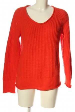 Gap Jersey de cuello redondo naranja claro punto trenzado look casual