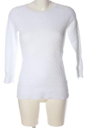 Gap Jersey de cuello redondo blanco punto trenzado look casual