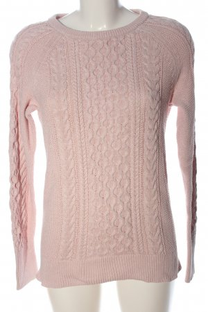 Gap Jersey de cuello redondo rosa punto trenzado look casual