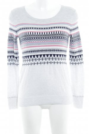 Gap Rundhalspullover grafisches Muster Casual-Look