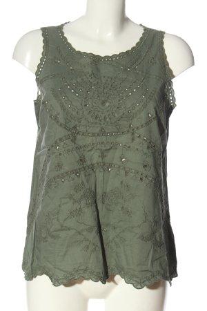 Gap ärmellose Bluse khaki abstraktes Muster Elegant