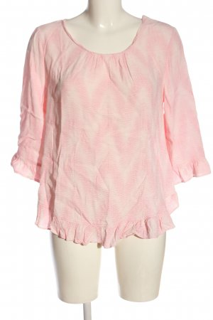 Gap Schlupf-Bluse pink-wollweiß abstraktes Muster Casual-Look