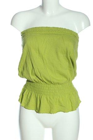 Gap Off the shoulder top groen casual uitstraling