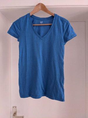 Gap V-Neck Shirt steel blue
