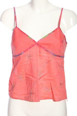Gap Spaghettiträger Top pink Allover-Druck Casual-Look