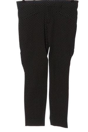 Gap Stoffhose schwarz-weiß Allover-Druck Casual-Look