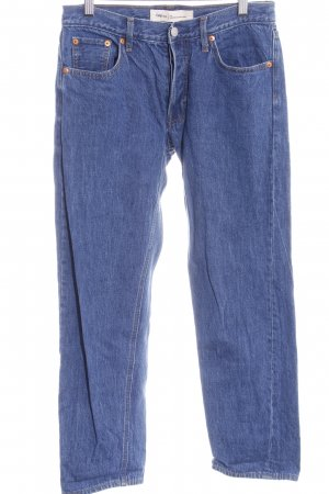 Gap Straight-Leg Jeans stahlblau Casual-Look