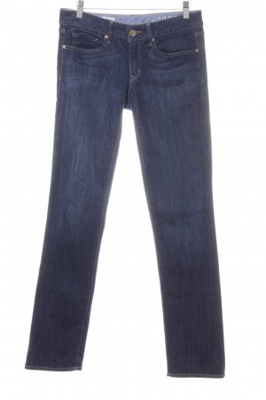 Gap Straight-Leg Jeans weiß-dunkelblau Casual-Look