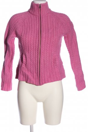 Gap Strick Cardigan pink Zopfmuster Casual-Look