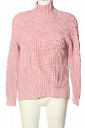 Gap Strickpullover pink Zopfmuster Casual-Look