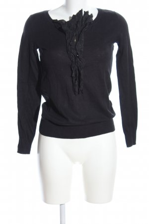 Gap Strickpullover schwarz Casual-Look