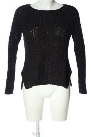 Gap Maglione lavorato a maglia nero punto treccia stile casual