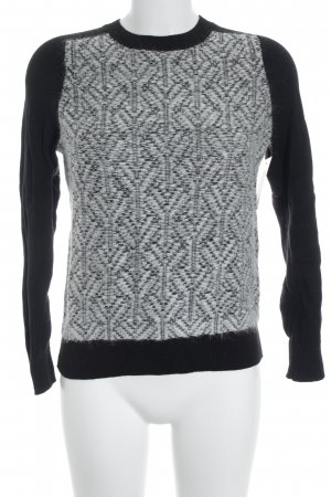 Gap Strickpullover schwarz-weiß abstraktes Muster