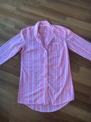 GAP°Süßes LA-Nachthemd°Sleepshirt°pink/ orange/ weiß°geknöpft°XS°34/36°neuwertig