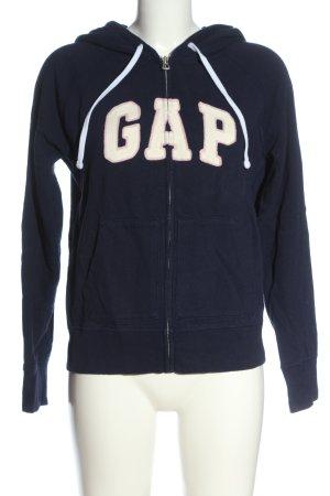 Gap Sweat Jacket blue printed lettering casual look