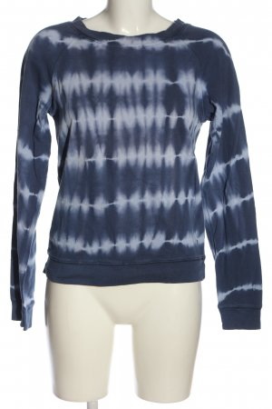 Gap Sweatshirt blau-hellgrau Allover-Druck Casual-Look