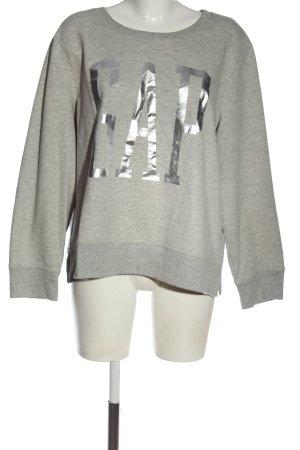 Gap Suéter gris claro-color plata moteado look casual