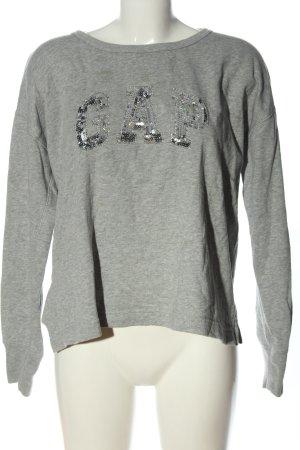 Gap Suéter gris claro moteado look casual