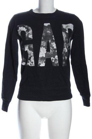 Gap Sweat Shirt printed lettering casual look