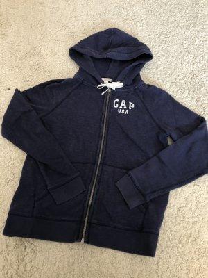 Gap Sweatshirtjacke Sweatjacke Jacke blau Hoodie Pulli
