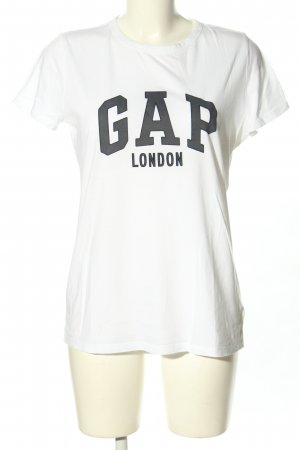 Gap T-Shirt weiß-schwarz Schriftzug gedruckt Casual-Look