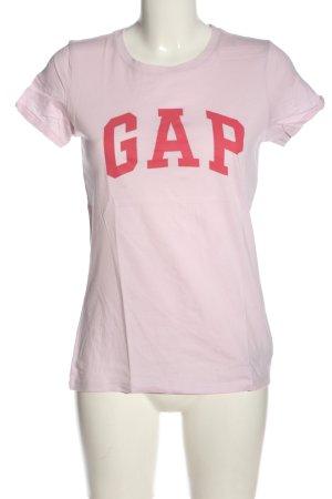 Gap T-Shirt pink Schriftzug gedruckt Casual-Look