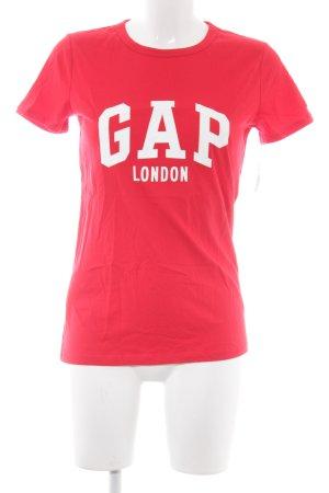 Gap T-Shirt rot Schriftzug gedruckt Casual-Look