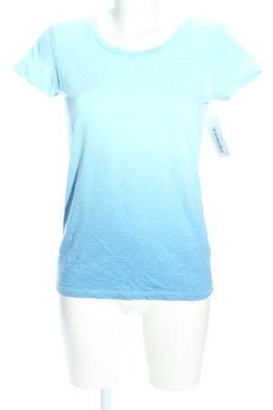 Gap T-Shirt türkis-blau Farbverlauf Casual-Look