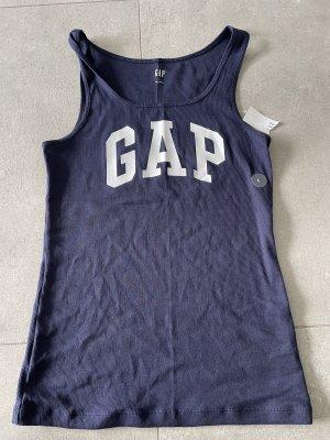 Gap Chemise côtelée bleu foncé-blanc