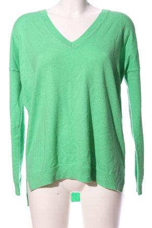 Gap V-Ausschnitt-Pullover grün Casual-Look