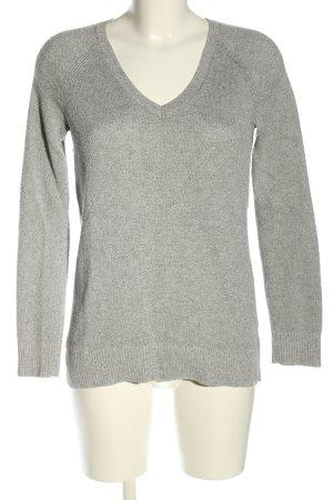 Gap V-Ausschnitt-Pullover hellgrau meliert Casual-Look