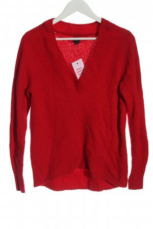 Gap V-Neck Sweater red casual look