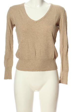 Gap V-Ausschnitt-Pullover wollweiß meliert Casual-Look