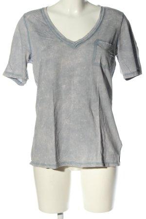Gap V-Ausschnitt-Shirt hellgrau Casual-Look
