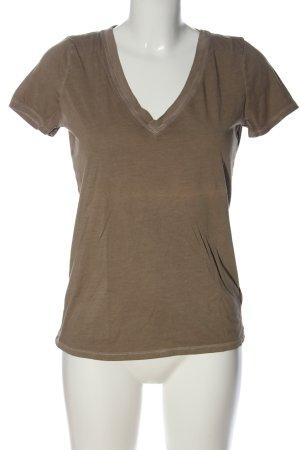 Gap Camisa con cuello V marrón look casual