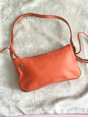 GAP Vintage Baguette bag Clutch Schultertasche Echtleder orange trend ss2020 Blogger