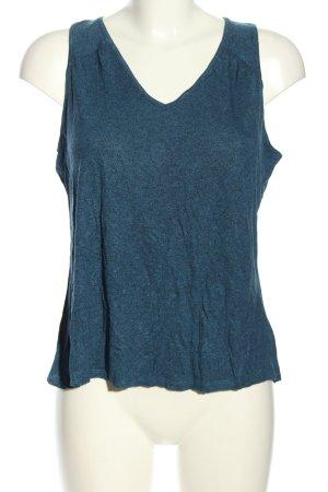 Gap Camiseta sin mangas azul moteado look casual