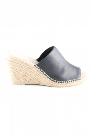 Gap Wedges Sandaletten schwarz-creme Casual-Look