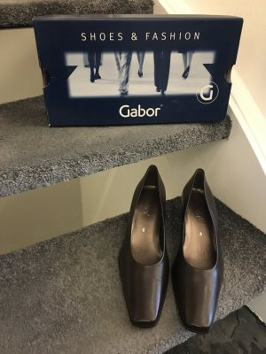 Garbor Pumps, mocca, Leder, Gr. 5
