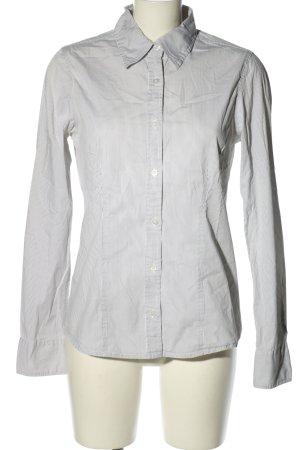 Garcia Camisa de franela blanco-negro estilo «business»
