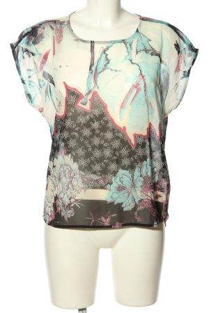 Garcia Jeans ärmellose Bluse abstraktes Muster Casual-Look