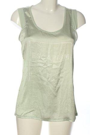 Garcia Jeans ärmellose Bluse khaki Schriftzug gedruckt Casual-Look