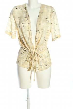 Garcia Jeans Blouse Jacket primrose-natural white abstract pattern casual look