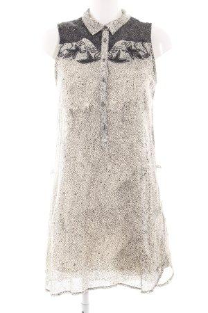 Garcia Jeans Blouse Dress cream-black allover print casual look