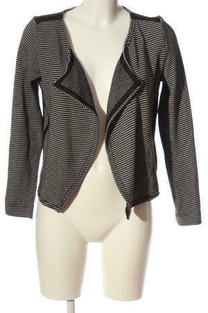 Garcia Jeans Cardigan schwarz-weiß Streifenmuster Casual-Look