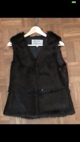 Garcia Jeans Futrzana kurtka czarno-brązowy