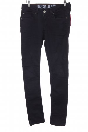 Garcia Jeans Hoge taille jeans donkerblauw casual uitstraling
