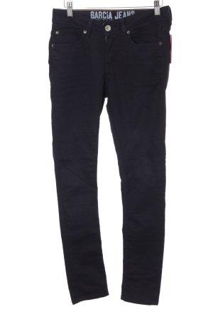 Garcia Jeans High Waist Jeans dunkelblau Casual-Look