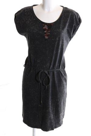 Garcia Jeans Jersey Dress black flecked casual look