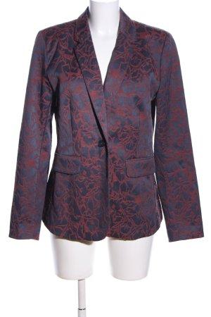 Garcia Jeans Kurz-Blazer blau-rot Allover-Druck Business-Look